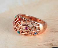 Кольцо женское с кристаллами