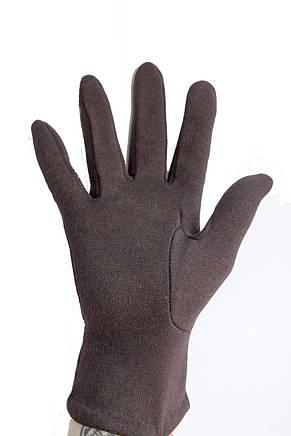 Женские стрейчевые перчатки темно-коричневые 125S1, фото 3