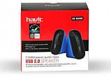 Колонки Havit HV-SK456 USB, black+blue, фото 3