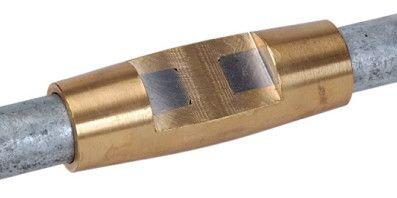 Муфта соединительная d16мм для забивных стержней заземления, латунь DKC