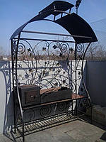 Кованый мангал с крышей Харьков