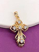 Крестик  позолота ХР. Медицинское золото. Код:PN-535