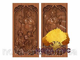 Резные деревянные нарды 3