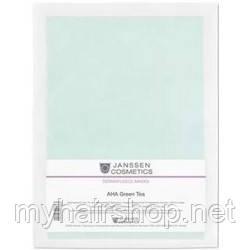 """Коллагеновая маска """"АНА кислоты + Зелёный чай"""" JANSSEN Collagen AHA Green Tea 5 шт"""
