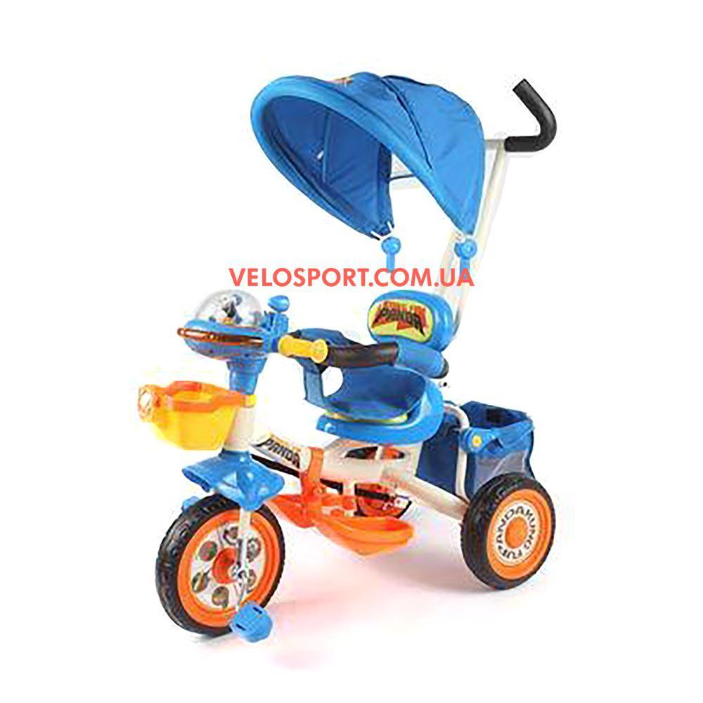 Детский трехколесный велосипед Baby Club Кунг-фу панда синий