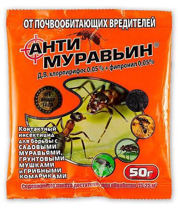 Инсектицид Антимуравьин, 50 г — средство от муравьев, фото 2