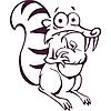 Виниловая наклейка - Белка с орехом (от 15х12 см)