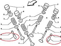 Направляюча втулка клапана Fiat Doblo 1.6i 16v 2001-