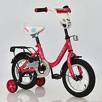 """Велосипед 12"""" дюймов 2-х колёсный С12030 """"CORSO"""" МАЛИНОВЫЙ"""