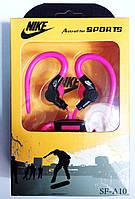 Гарнитура спортивная с креплением на ухо (крючок) SF-A10, розовые