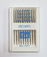 Иглы промышленные №100 PRYM, Германия, набор 10 шт.