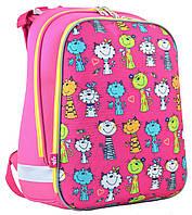 Рюкзак школьный для девочки 1Вересня 554575 H-12 каркасный Kotomaniya rose