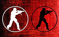 Виниловая наклейка Counter strike 3 (от 10х10 см), фото 1