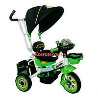 Детский трехколесный велосипед Baby Club Кунг-фу панда зеленый