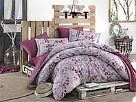 Комплект постельного белья 200х220 HOBBY Exclusive Sateen Irma сливовый