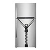Виниловая интерьерная наклейка - Замок на холодильник (от 30х10 см)