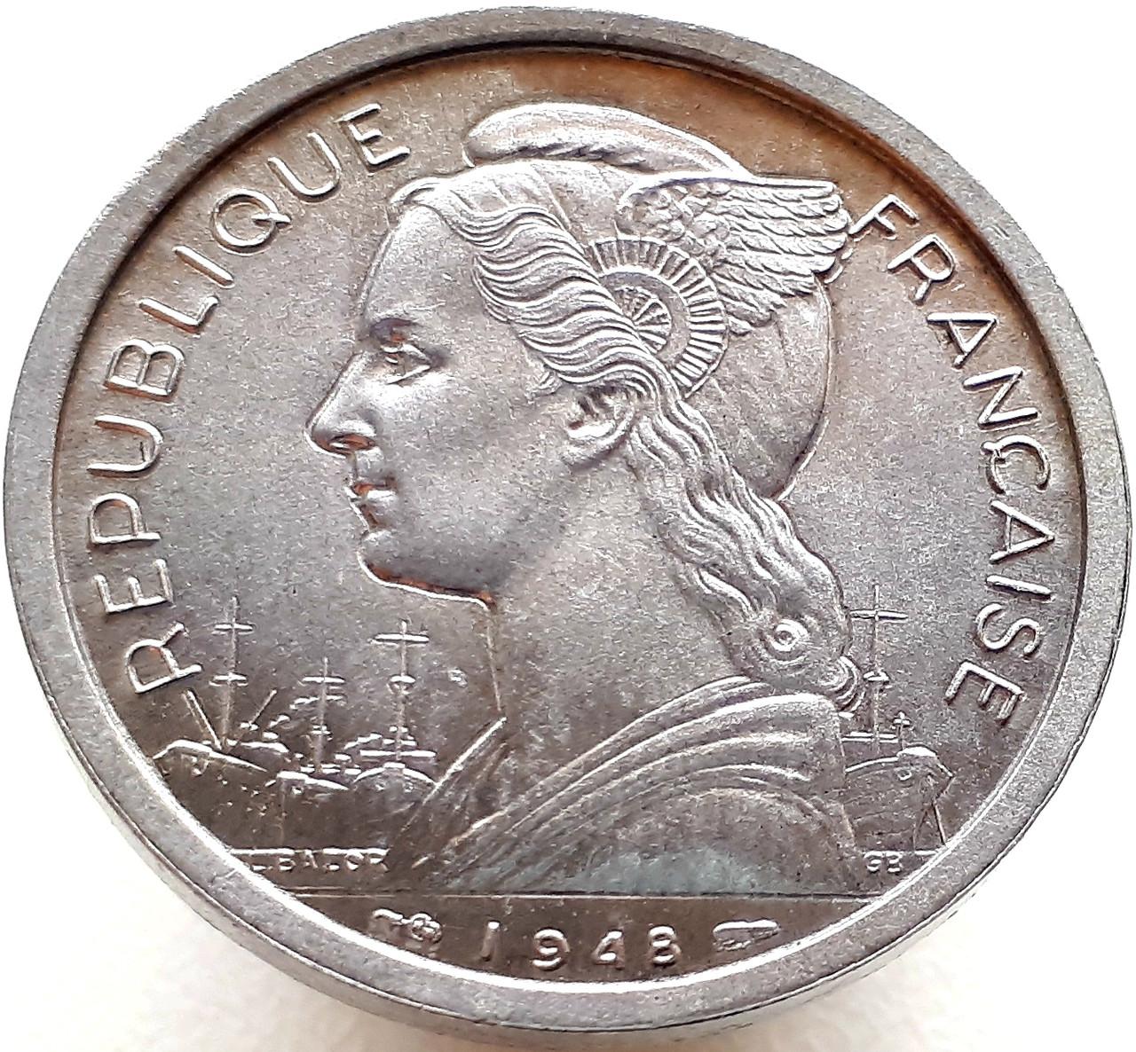 Реюньон 2 франка 1948