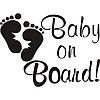 Виниловая наклейка - baby от (20х25 см)