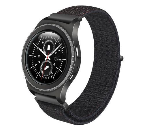 Нейлоновий ремінець Primo для годин Samsung Gear S2 Classic SM-R732 / RM-735 - Black