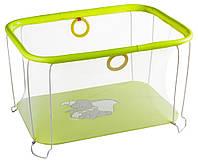Манеж Qvatro Солнышко-02 мелкая сетка желтый (слон Dumbo)