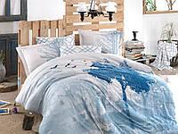 Комплект постельного белья 200х220 HOBBY Exclusive Sateen Alandra голубой