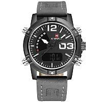 ✖Мужские часы NAVIFORCE 9095 Grey спортивные водонепроницаемые кварцевые