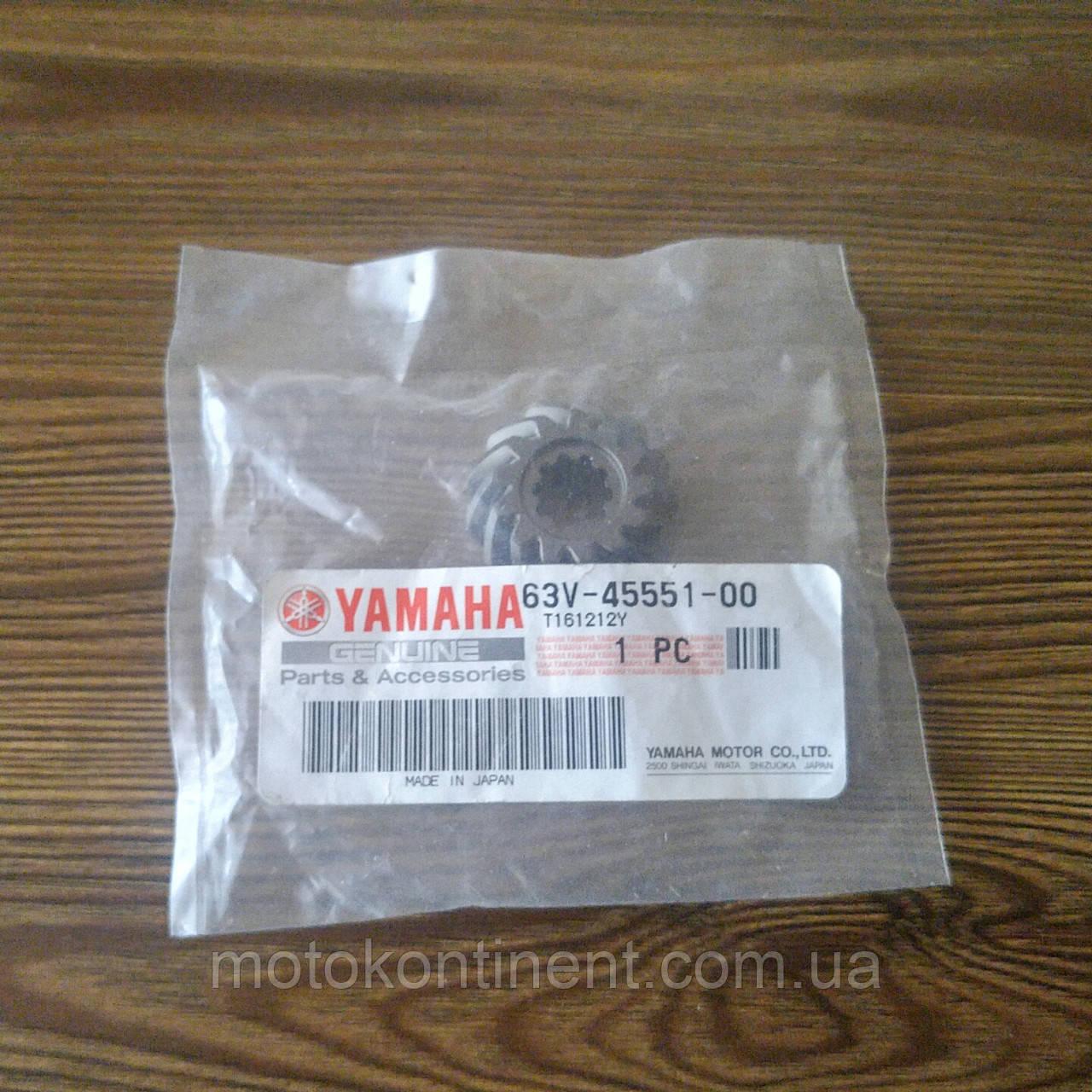 63V-45551-00 Шестерня вертикального вала (Япония) Yamaha 9.9/15 F9.9/F15/F20
