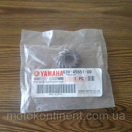 63V-45551-00 Шестерня вертикального вала (Япония) Yamaha 9.9/15 F9.9/F15/F20, фото 2