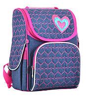 Рюкзак YES 555208 H-11 каркасный Hearts blue