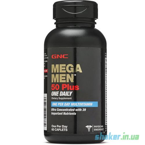 Витамины для мужчин GNC Mega Men 50 Plus Once Daily (60 таб) мега мен