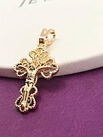 Ажурный крестик  позолота ХР. Код:PN-186