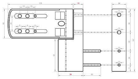 Регульована дверна петля 160 кг (наплав 18 мм) коричнева, фото 2