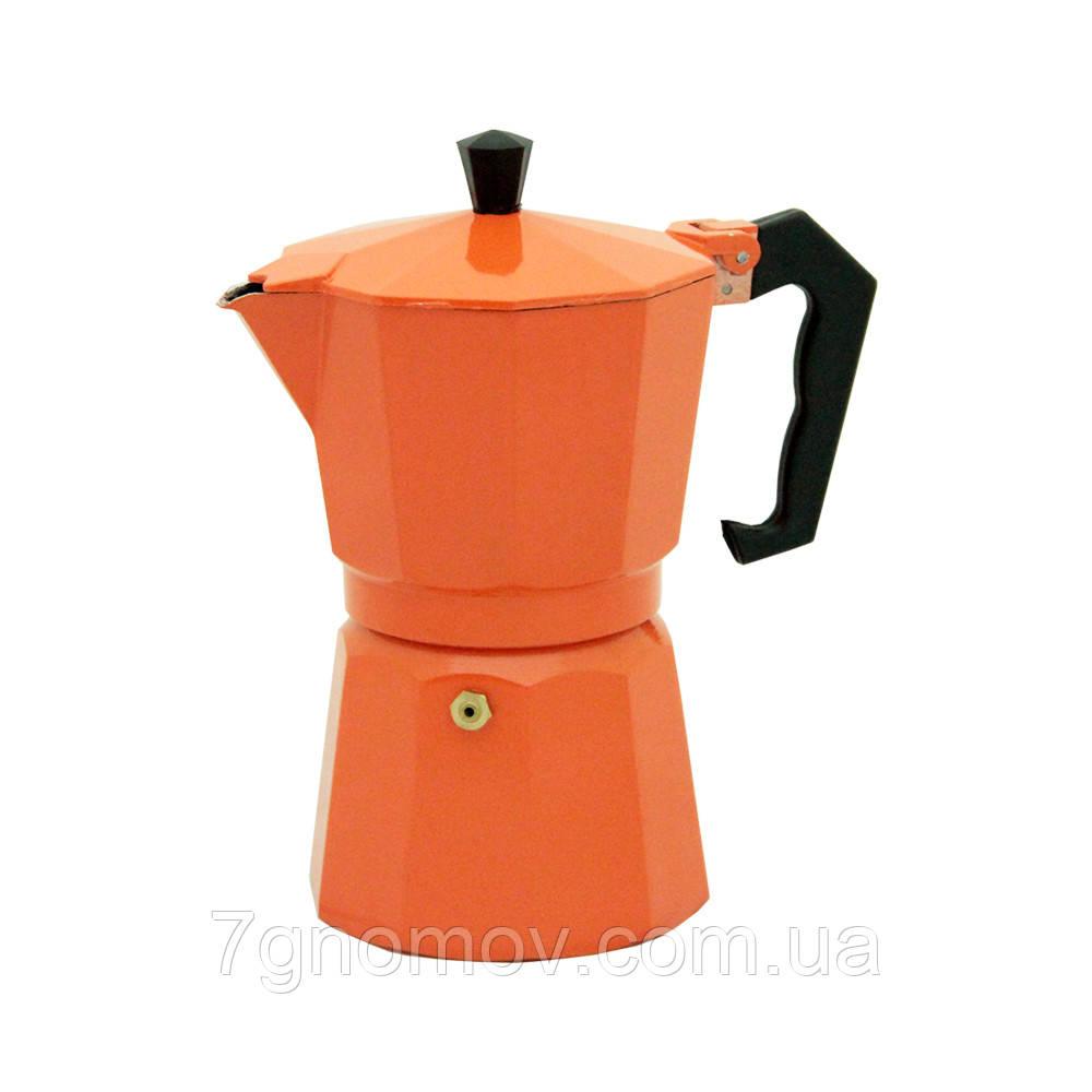 Гейзерная кофеварка Молли оранжевая 300 мл