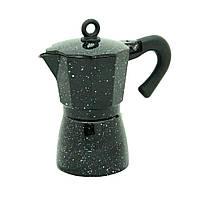 Гейзерная кофеварка Молли черная 300 мл