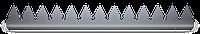 Шипованная планка L-образная 2000х41х1.8 мм. Защита забора. ТМ Кольчуга