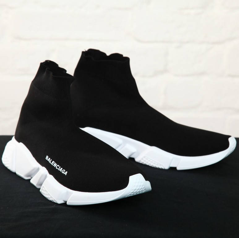 Balenciaga Black White Speed Trainers (реплика)