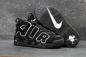 Чоловічі високі замшеві кросівки Nike Air More Uptempo 96 Black White (Найк Аптемпо)