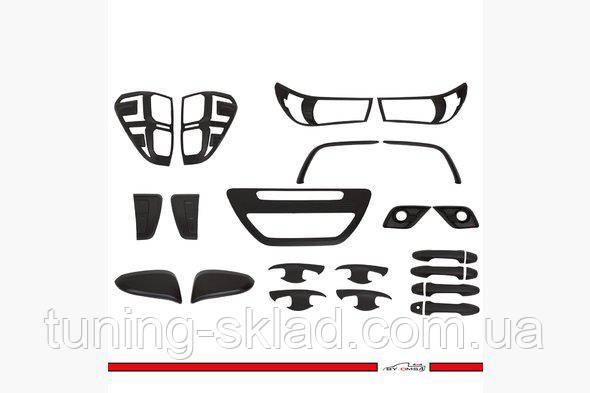 Хром комплект накладок (черный ABS) Toyota Hilux 2015 (Тойота Хайлюкс)