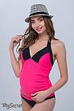 Купальник-танкини для беременных MIAMI, малиновый с черным, 44 размер, фото 2