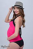 Купальник-танкини для беременных MIAMI, малиновый с черным, 44 размер, фото 3
