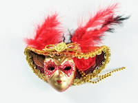 Маска Венецианская Volto Сofano №2 Красный