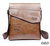 Повседневная мужская сумка коричневая