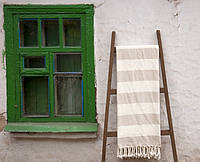 Пляжное плед покрывало 135*160 Barine Deck Throw Beige бежевое