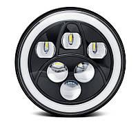 Фара мото LED 7 дюймів AUKMA Нива, УАЗ 469, ВАЗ 2101, 2121, FJ Cruiser, мотоцикл, мото 7 дюймів світлодіодна