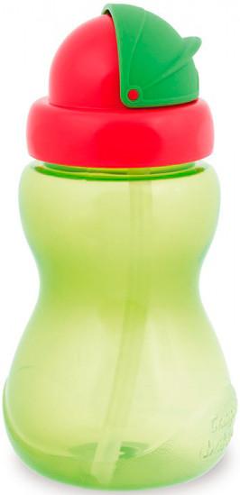 Поильник  спортивный с трубочкой  зелений ,270 мл Canpol babies 56/109