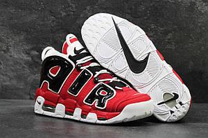 Чоловічі кросівки Nike Air More Uptempo 96 в чорно-червоному кольорі