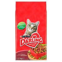 Корм для кошек Darling с мясом и овощами 1,2 кг