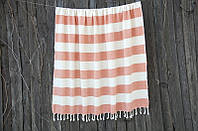 Пляжное плед покрывало 135*160 Barine Deck Throw Orange оранжевое