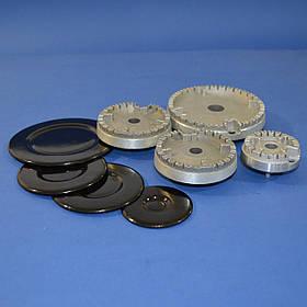 Комплект горелок (с крышками) для плиты GRETA (год выпуска 2008-2011)