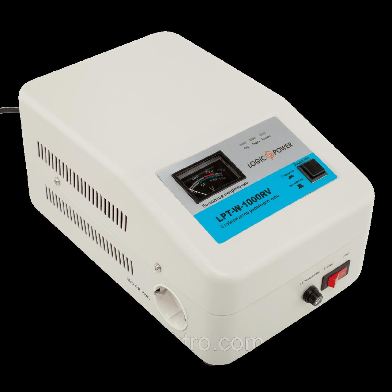 Стабилизатор напряжения LogicPower LPT-W-1000RV (Белый)